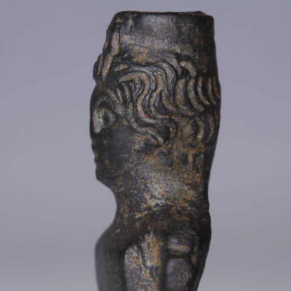 Roman Bronze Bust of Male Figure