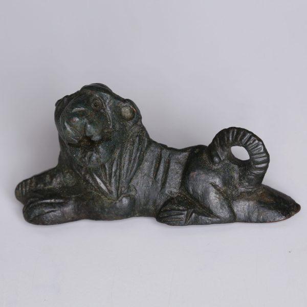 Roman Bronze Lion Statuette