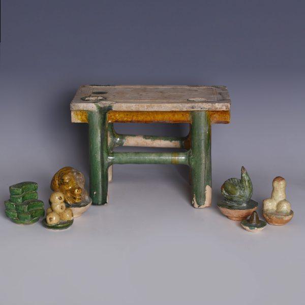 Sancai Glazed Ming Dynasty Offerings Table