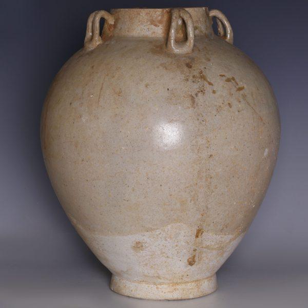 Chinese Tang Dynasty Ash Glazed Wan Nian Jar