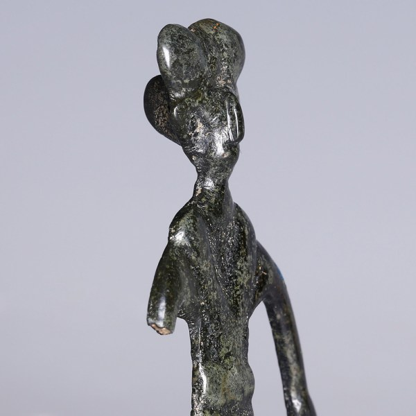 Rare Near Eastern-Western Asiatic Silver Statuette