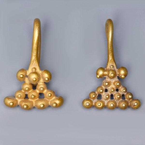 Near Eastern-Western Asiatic Gold Earrings