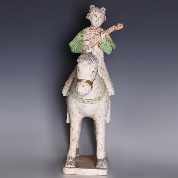Sui Dynasty-Tang Dynasty Statuette of a Female Horse Rider