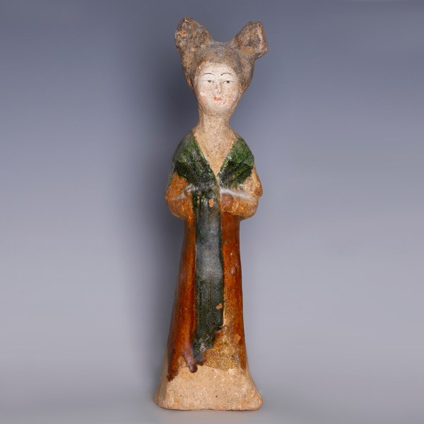 Tang Sancai-Glazed Female Figurine