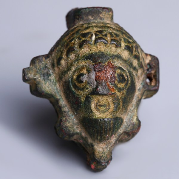Roman Bronze Bifacial Padlock