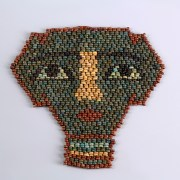 Beaded Egyptian Faience Mummy Mask