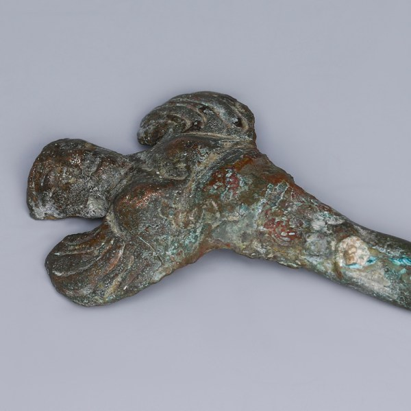 Greek Bronze Siren Casket Leg