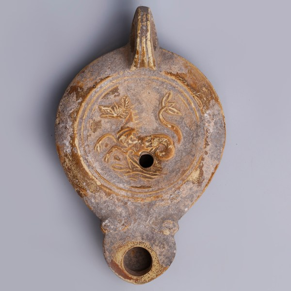 Greek Hellenistic Ephesus Oil Lamp