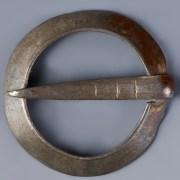 Medieval Silver Circular Brooch
