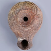 Fine Ancient Roman Samaritan Type Oil Lamp