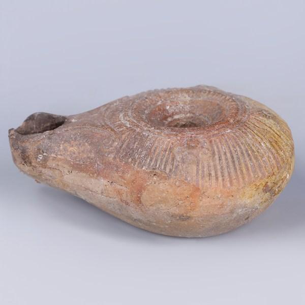 Fine Ancient Roman Samaritan Type Oil Lamp