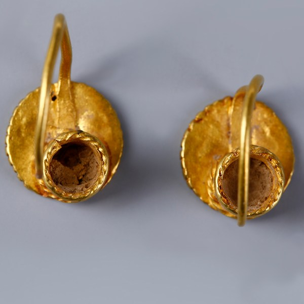 Achaemenid Gold Floral Earrings