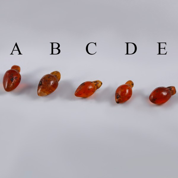 Ancient Egyptian Carnelian Hearts