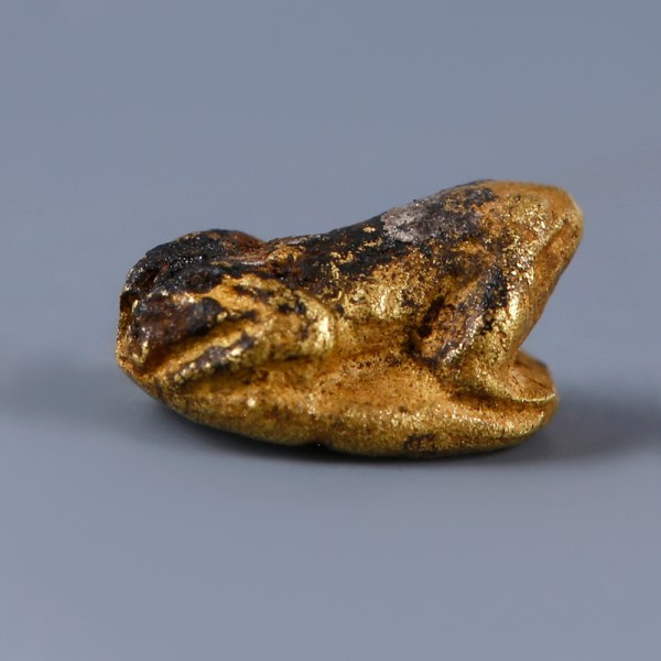 Ancient Egyptian Gold Frog Amulet