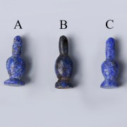 Selection of Ancient Egyptian Lapis Lazuli Poppy Amulets