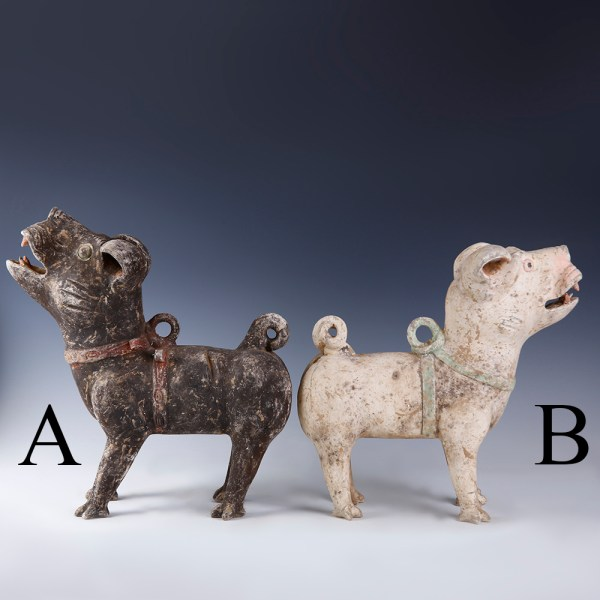 Chinese Han Dynasty Guardian Dog Selection