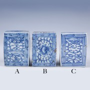 Blue and White Boxes from the Qing Dynasty