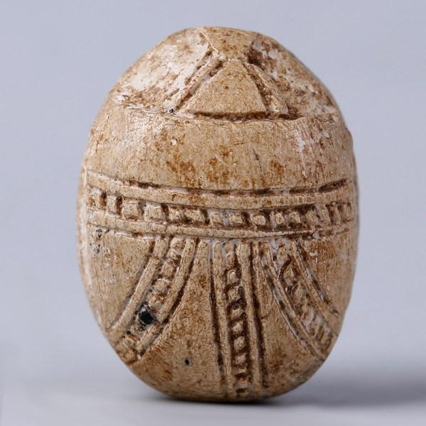 Egyptian Steatite Scarab with Uraei