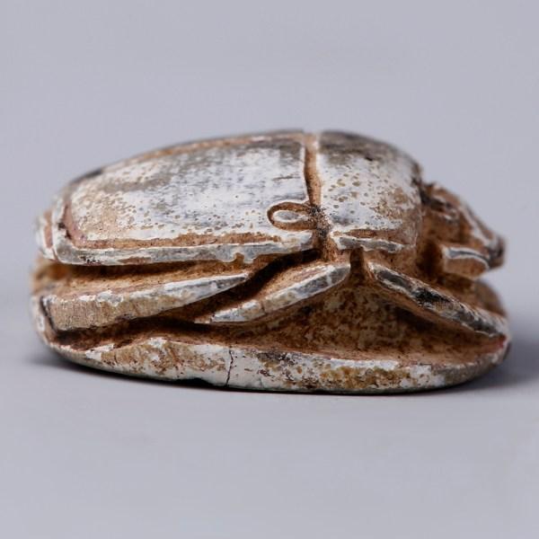 Egyptian Steatite Scarab Dedicated to Amun & Thutmose III