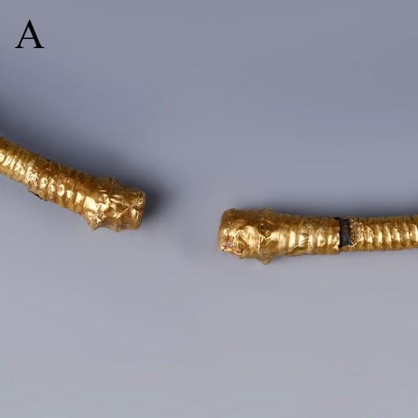 Selection of Scythian Gold Clad Torcs