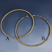Selection of Scythian Gold Clad Torcs