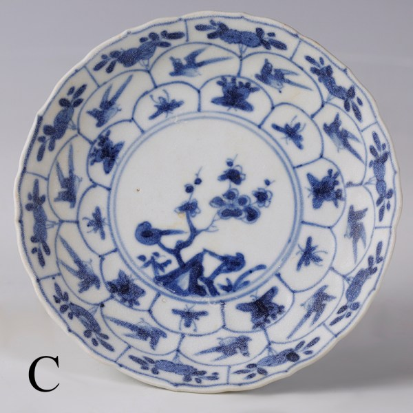 selection of kangxi blue and white saucers c