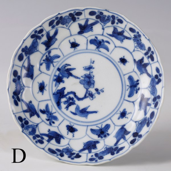 selection of kangxi blue and white saucers d