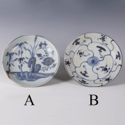 Tek Sing Blue and White Floral Dishes