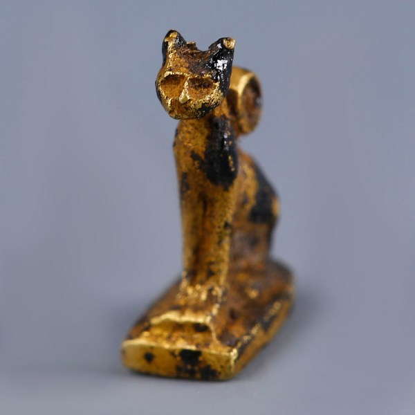 Exquisite Ancient Egyptian Gold Cat Amulet