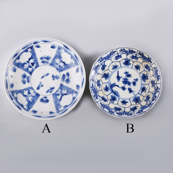 Selection of Blue and White Kangxi Saucers