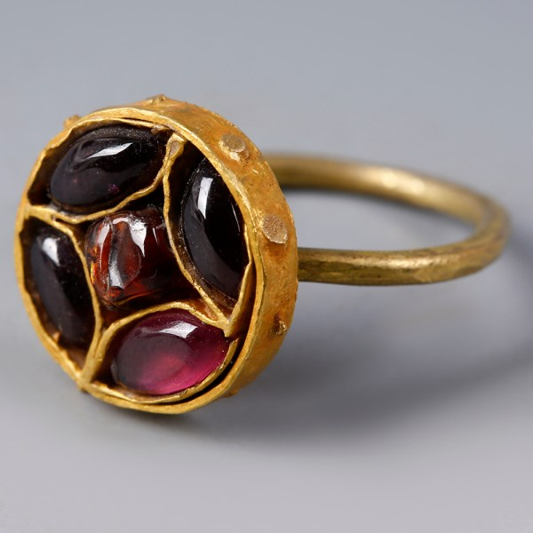 Byzantine Gold Ring with Garnet