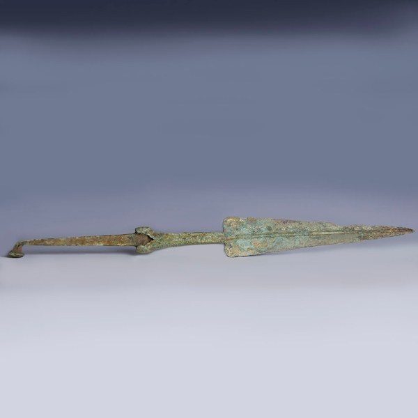Large Luristan Bronze Rat-Tail Spear Head