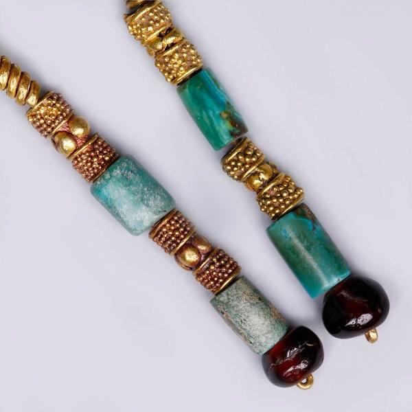 Near Eastern Gold Pendant Earrings