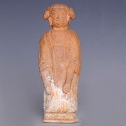 Chinese Han Dynasty Red Terracotta Figurine