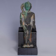 Extremely fine Egyptian Bronze Statuette of Harpocrates