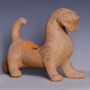 Han Dynasty Red Terracotta Pixiu Chimera