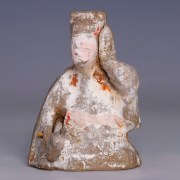 Rare Han Dynasty Pottery Entertainer with Mobile Arm