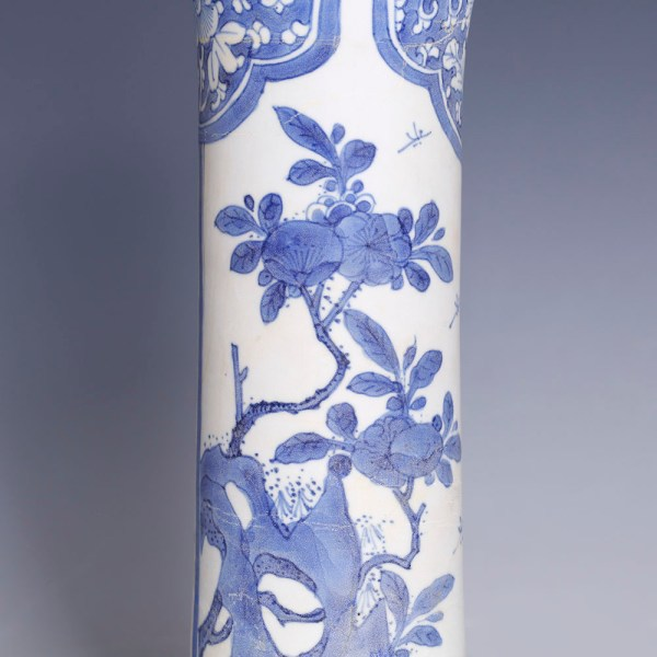 Large Chinese Kangxi Blue and White Vase