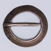 Late Medieval Silver Domed Brooch with Maker's Mark