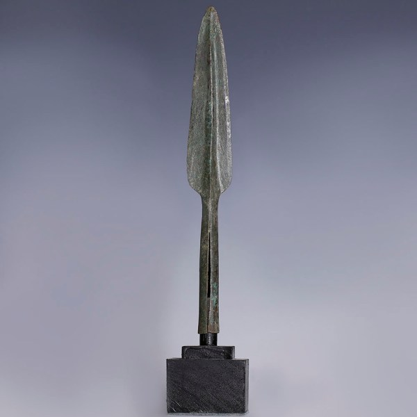 Luristan Bronze Socketed Spearhead