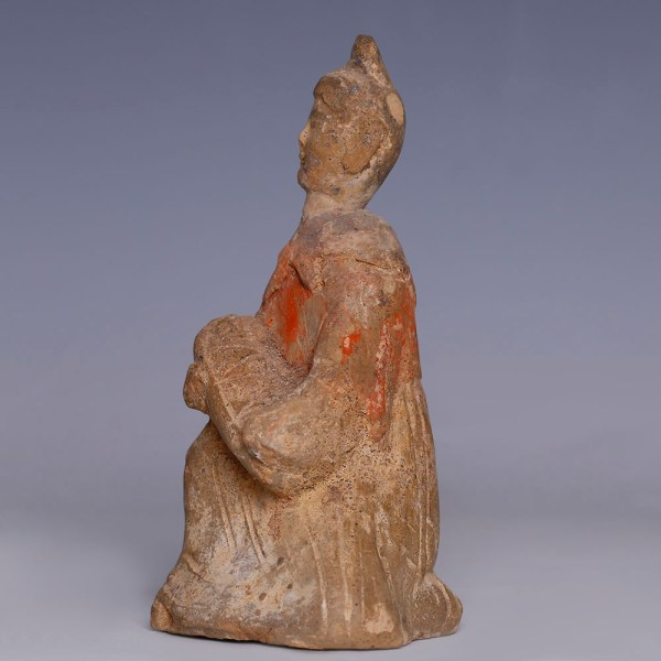 Rare Han Dynasty Mother and Child Statuette