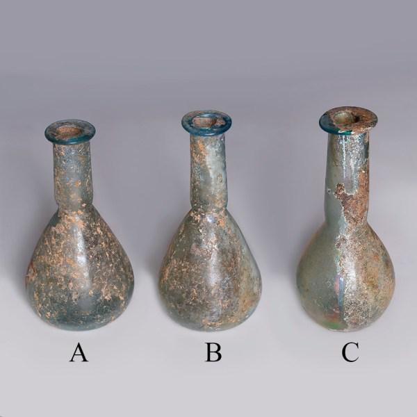 Selection of Roman Glass Bottles