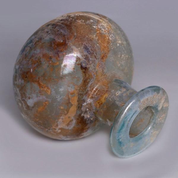 Roman Pale Blue Glass Jar