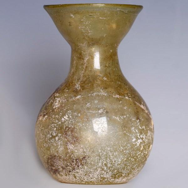 Roman Yellow Glass Jar