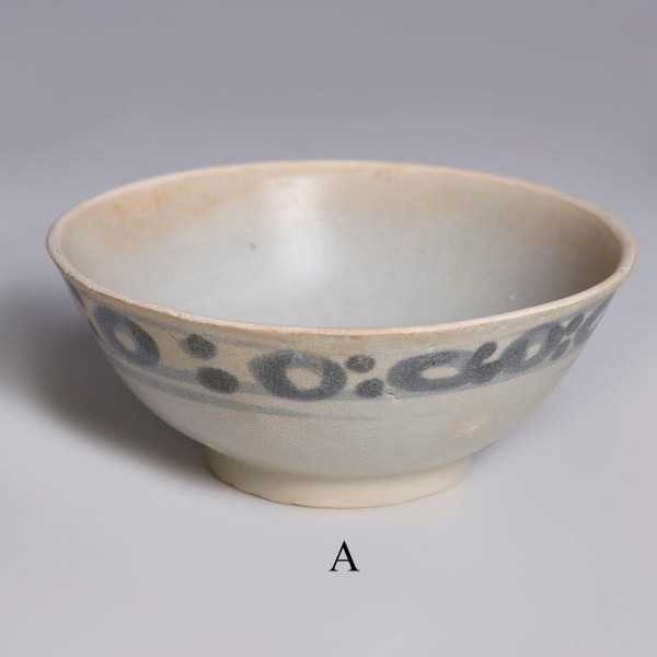 tek sing blue green and white small bowls a.