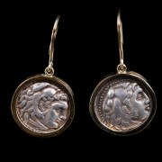 Pair of Alexander the Great Drachm Earrings