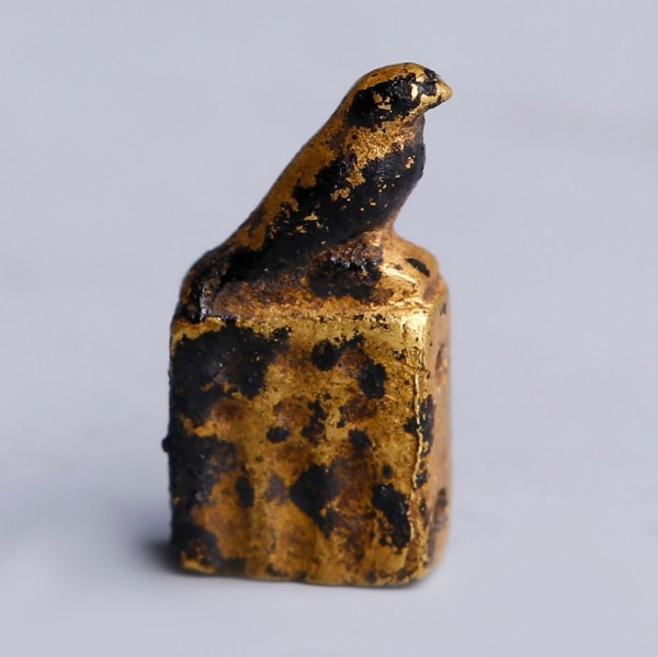 Ancient Egyptian Gold Amulet of Horus