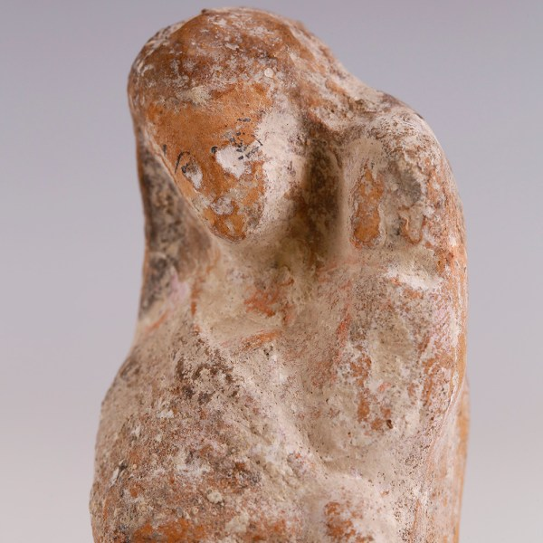 Greek Terracotta Mother and Child Figurine