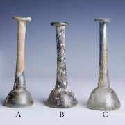 Selection of Roman Glass Candlestick Unguentaria