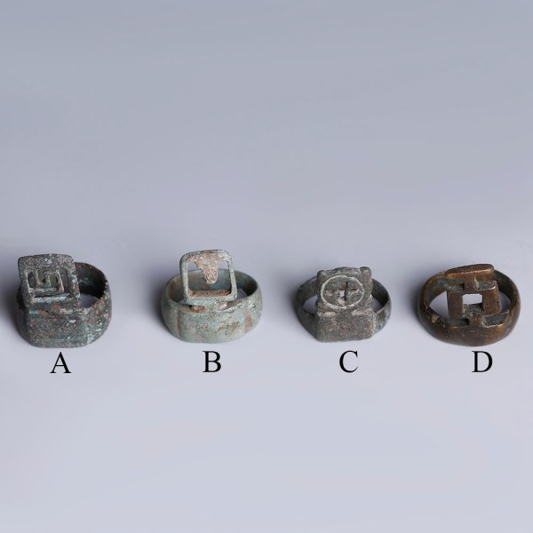 Selection of Roman Bronze Key Rings
